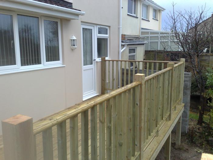 Completed handrails